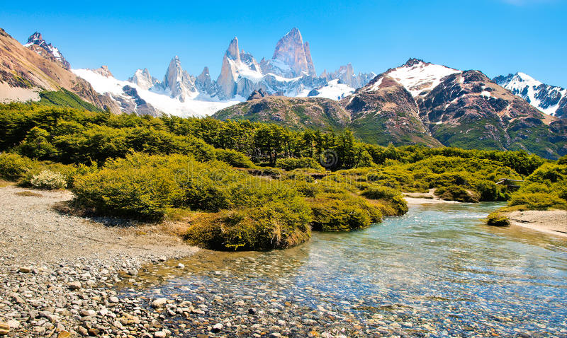 Bello paesaggio nella Patagonia, Sudamerica fotografie stock
