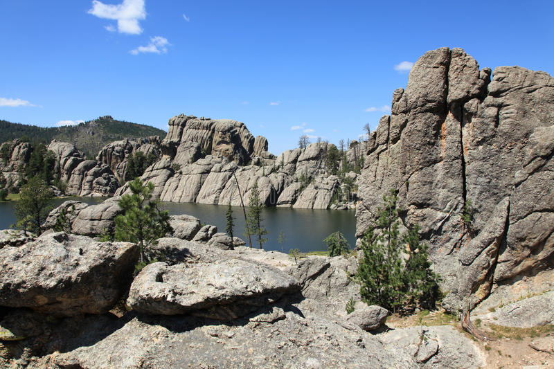 Bello paesaggio a Sylvan Lake fotografie stock