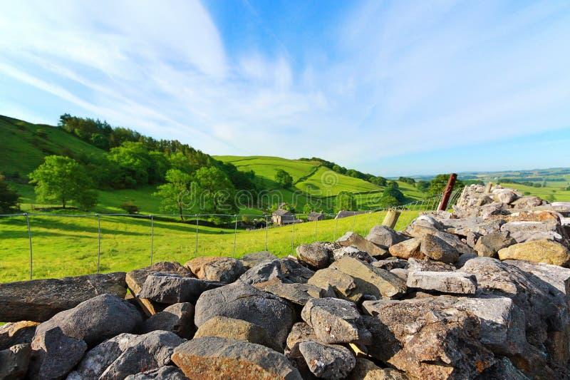Bello paesaggio, vallate del Yorkshire, Inghilterra fotografie stock libere da diritti