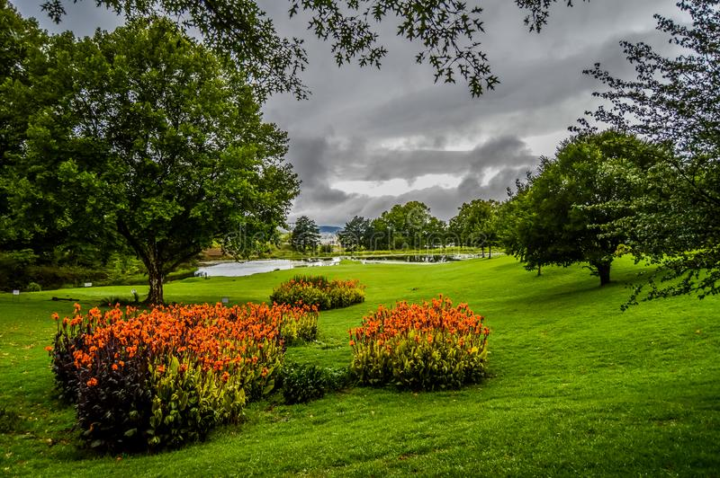 Bello paesaggio verde in Natal Midlands nel Sudafrica anche fotografie stock libere da diritti