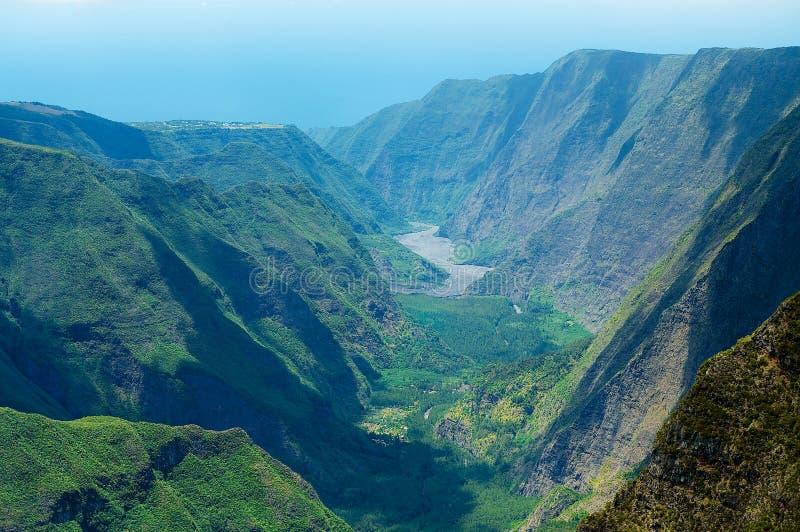 Bello paesaggio vulcanico al parco nazionale della Riunione della La a Reunion Island fotografia stock