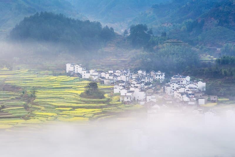 Bello paesaggio wuyuan della molla immagine stock
