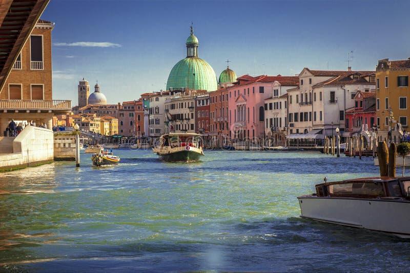 Bello panorama di Grand Canal a Venezia, Italia fotografie stock