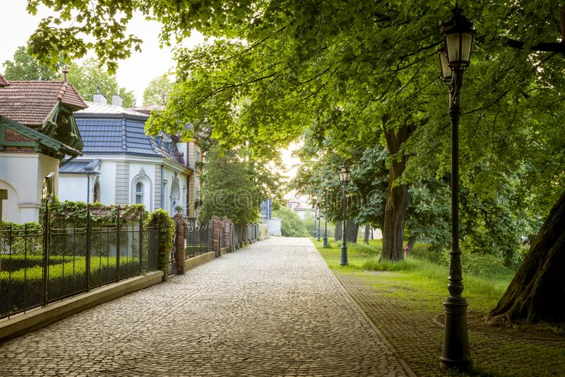Bello parco in Rzeszow, Polonia fotografia stock
