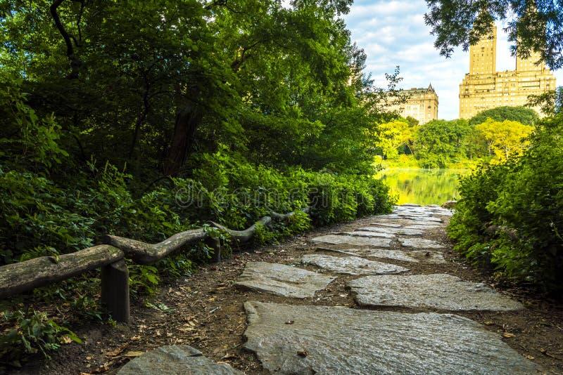 Bello passaggio pedonale in Central Park fotografia stock
