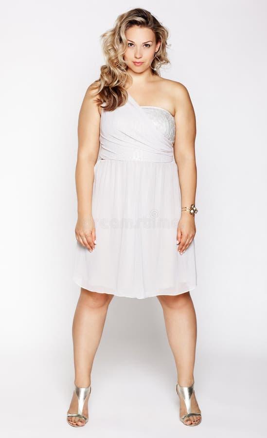 Bello più la donna di dimensione fotografie stock