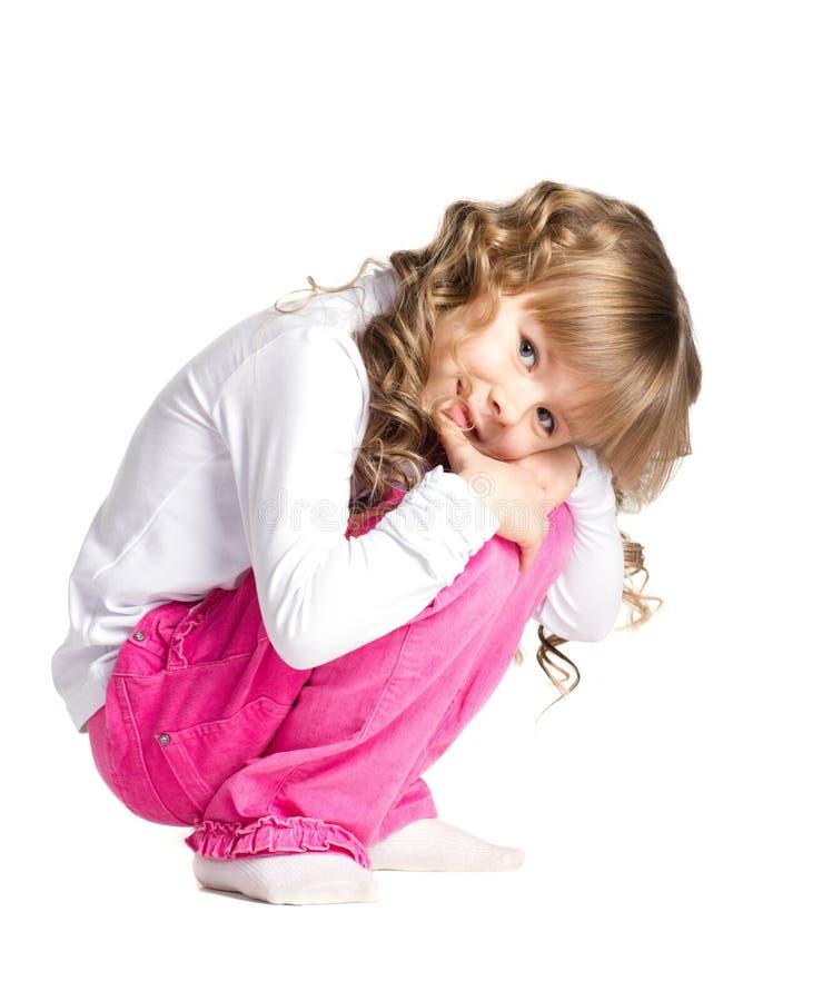 Bello piccolo   ragazza fotografia stock libera da diritti