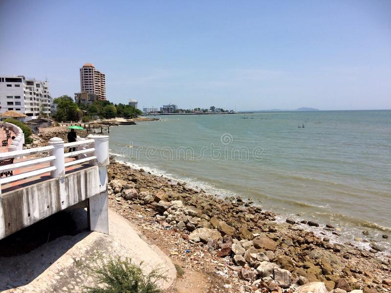 Bello ponte di vista in Rayong, Tailandia immagine stock
