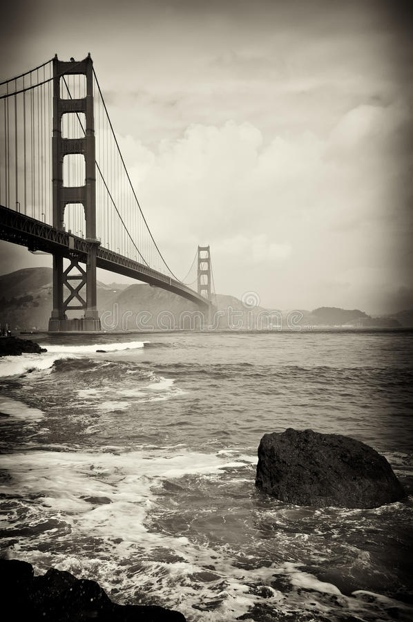 Bello ponticello di cancello dorato a San Francisco fotografia stock