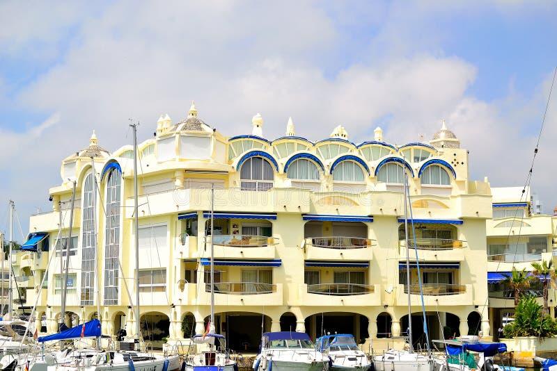 bello porticciolo di Benalmadena, Costa del Sol, Spagna fotografia stock