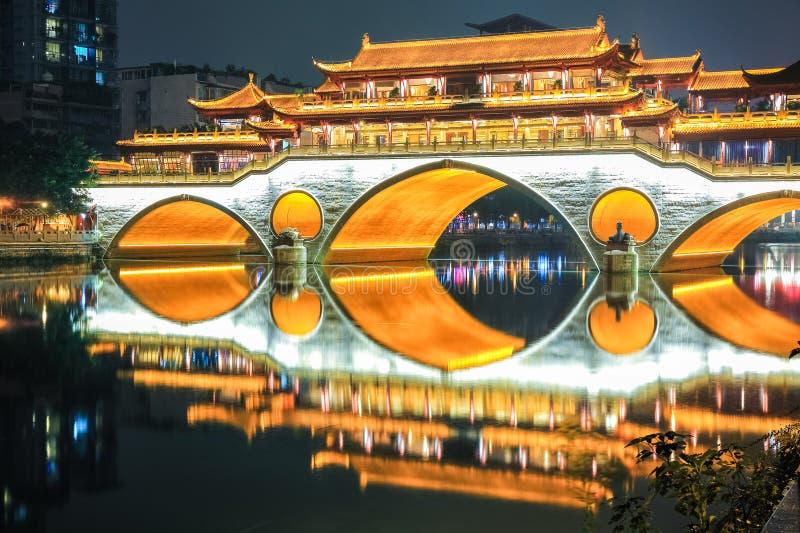 Bello primo piano del ponte di Chengdu anshun fotografia stock