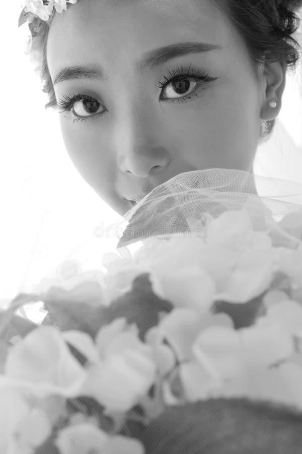 Bello primo piano della sposa fotografia stock libera da diritti