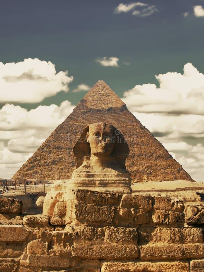 Bello profilo di grande Sfinge compreso fotografie stock libere da diritti
