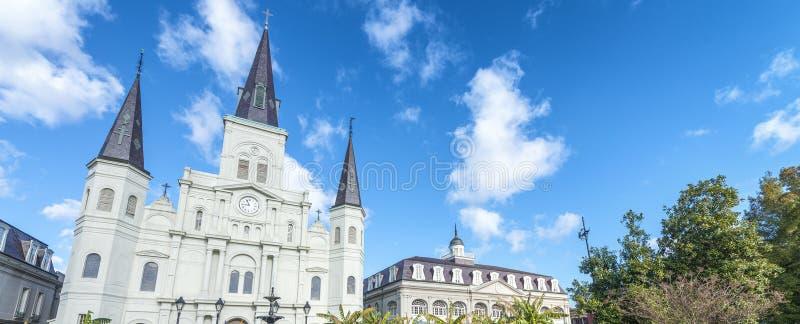 Bello punto di vista di Jackson Square a New Orleans, Luisiana immagine stock