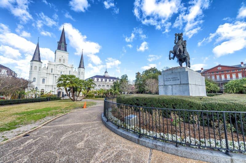 Bello punto di vista di Jackson Square a New Orleans, Luisiana fotografie stock
