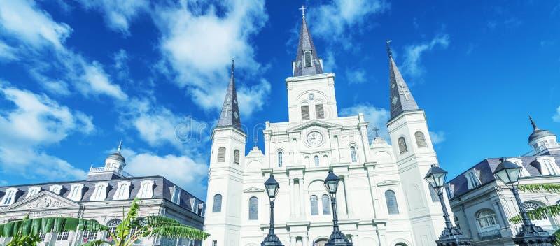 Bello punto di vista di Jackson Square a New Orleans, Luisiana immagini stock