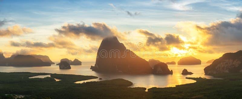 Bello punto di vista di Phang Nga: Khao Samed Nang Chee Viewpoint, PA fotografie stock libere da diritti
