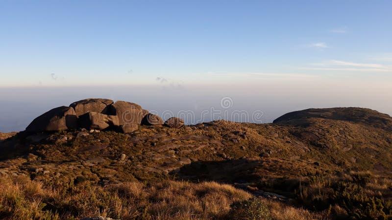 "Bello punto di vista di tramonto di Castelo de Açu Parque Nacional Serra rgãos del DOS a à "" immagine stock libera da diritti"