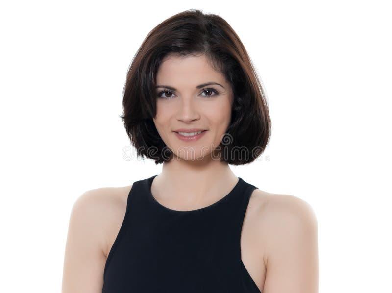 Bello ritratto caucasico sorridente della donna immagine stock libera da diritti