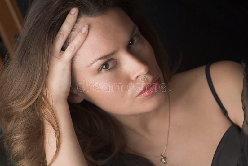 Bello ritratto della donna del brunette fotografia stock