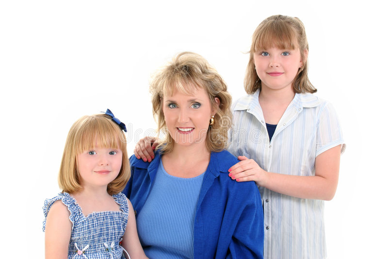 Download Bello Ritratto Della Figlia Della Madre Immagine Stock - Immagine di figlie, isolamento: 207083