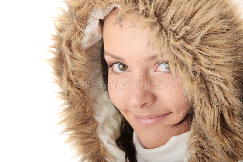 Bello ritratto della ragazza di inverno immagine stock libera da diritti