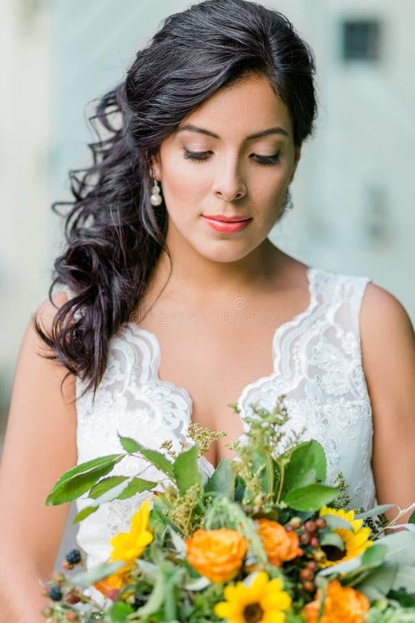 Bello ritratto della sposa fotografia stock