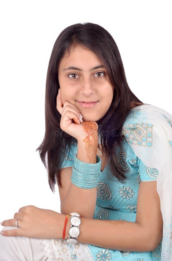Bello ritratto indiano della ragazza immagine stock libera da diritti
