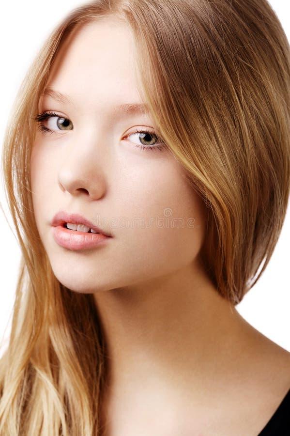 Bello ritratto teenager della ragazza fotografia stock
