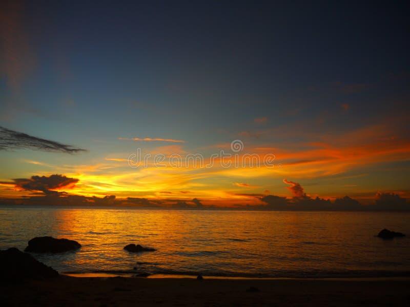 Bello Sanset Koh Phangan fotografia stock libera da diritti