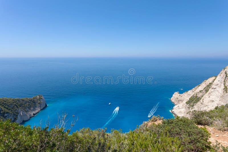 Bello scape del mare in un giorno soleggiato fotografia stock