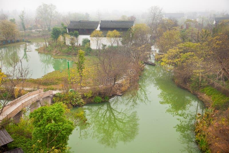 Bello scenics Xixi nella sosta dell'area umida del cittadino fotografia stock libera da diritti