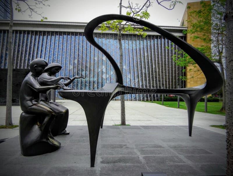 Bello sculptureof astratto Shenzhen fotografie stock