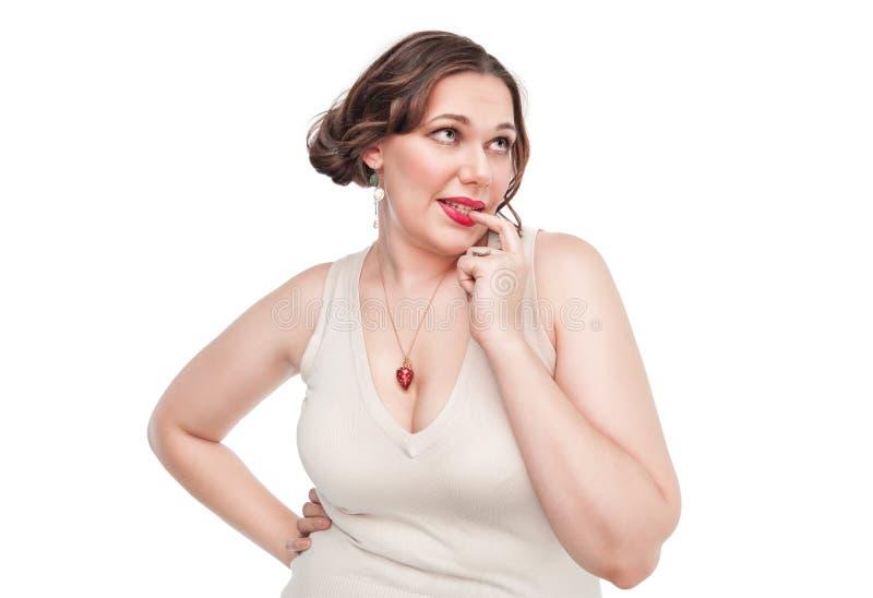 Bello sexy più la donna di dimensione immagini stock
