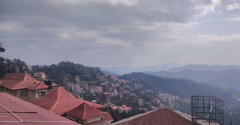 Bello Shimla nella stagione invernale immagine stock