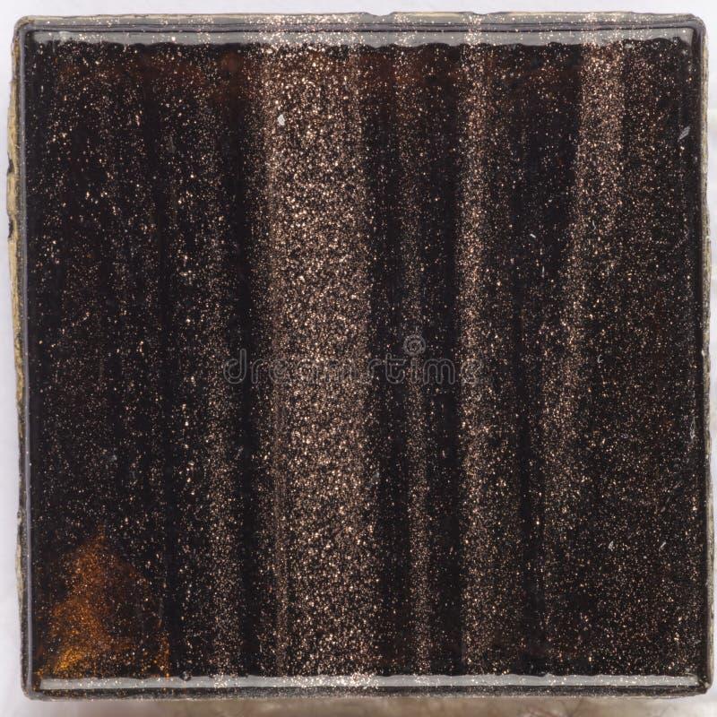 Bello smalt di vetro di marrone scuro immagini stock