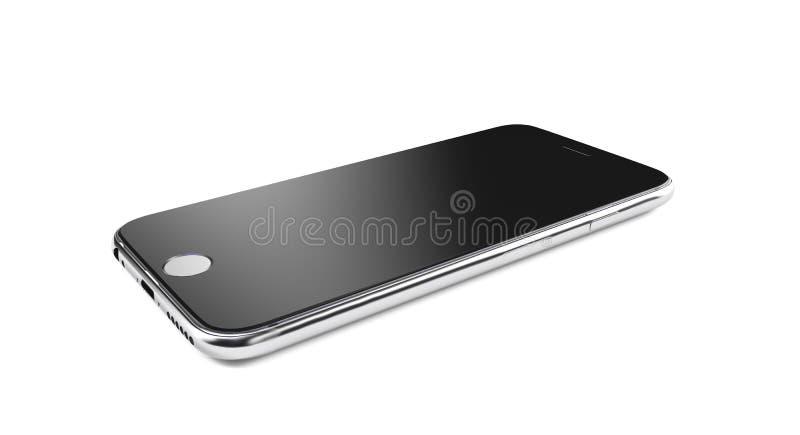 Bello smartphone su fondo bianco 3d rendono illustrazione vettoriale