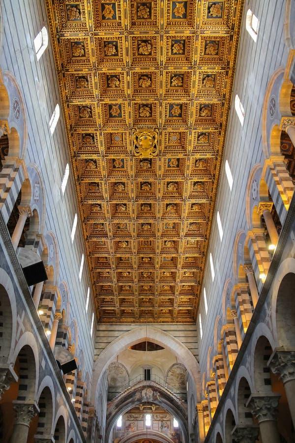 bello soffitto della cattedrale di pisa di pisa del duomo