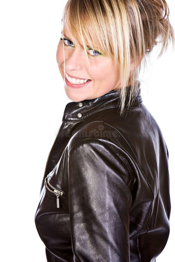 Bello sorridere biondo della ragazza immagine stock libera da diritti