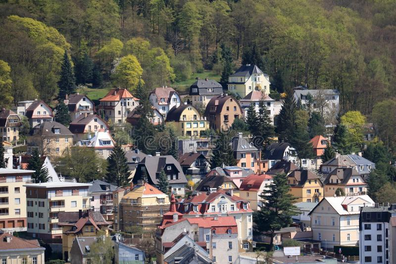 Bello Stazione termale Karlovy Vary fotografia stock