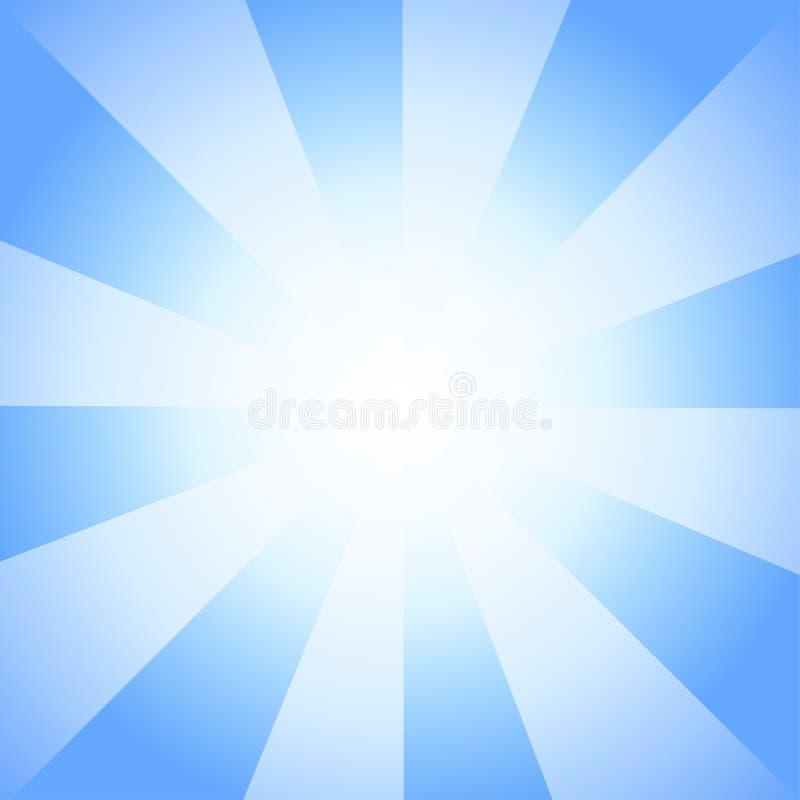 Bello Sun con il fondo dell'annata della televisione dei raggi illustrazione di stock