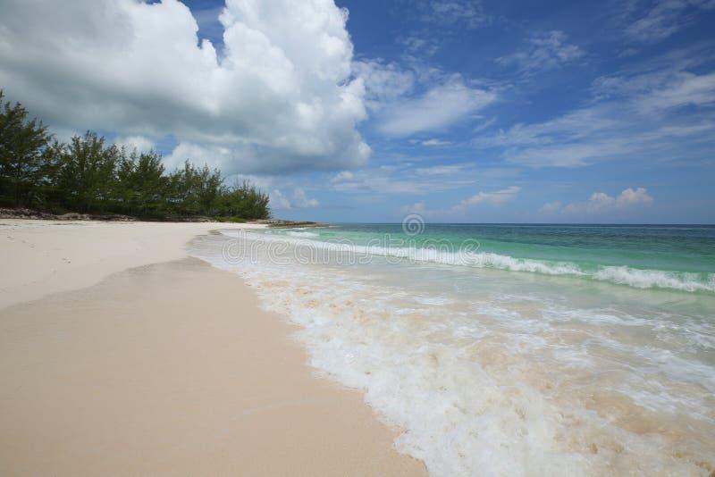 Bello Tay Bay Beach all'isola di Eleuthera immagine stock libera da diritti
