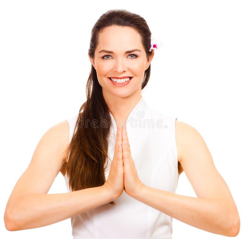 Bello terapista femminile di massaggio fotografia stock