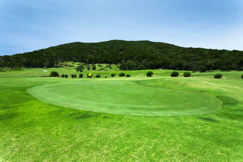 Bello terreno da golf verde immagini stock