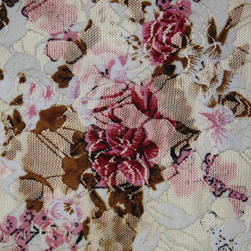 Bello tessuto con i fiori. Pizzo. fotografia stock libera da diritti