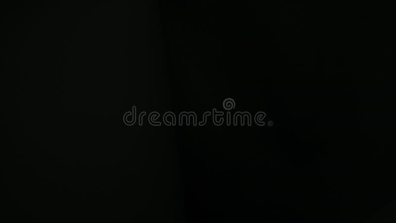 Bello tessuto ondulato nero, fondo generato da computer, rappresentazione 3d illustrazione di stock