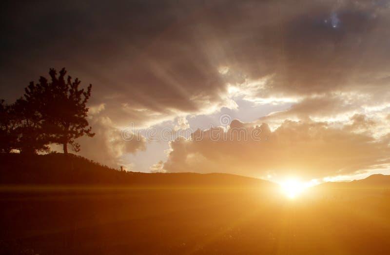 bello tramonto immagine stock