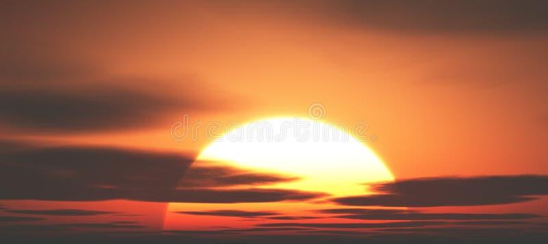 Bello tramonto illustrazione vettoriale
