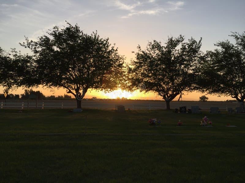 Bello tramonto fotografia stock libera da diritti