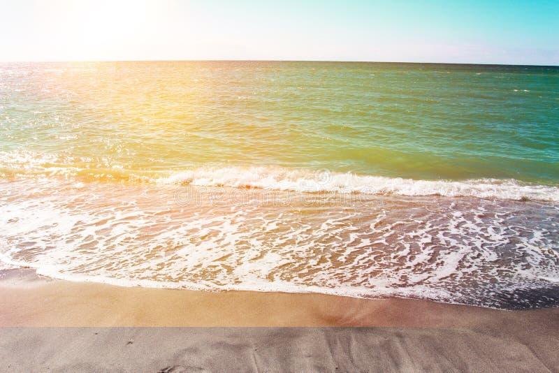Bello tramonto alla spiaggia di Venezia del sud florida fotografia stock libera da diritti
